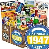 Original seit 1947 | Ossi Paket | Spezialitäten der DDR XXL mit Trabi Puffreis Schokolade, Brausepulver, Rotkäppchen Sekt, Salmiak Pastillen, Filinchen Knusper, Pfeffi Likör und vielem mehr