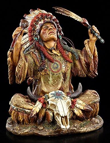Indianer Figur - Häuptling ruft Götter - Medizinmann