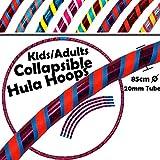 Pro Kids COLLAPSIBLE Hula Hoops 3-Farbe (Ultra-Grip / Glitter Deco) Gewichtetes Zerlegbarer Vier-Piece Hoop (85cm / 33.4