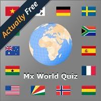 Welt Flaggen und Länder Quiz  mit Landkarten MX