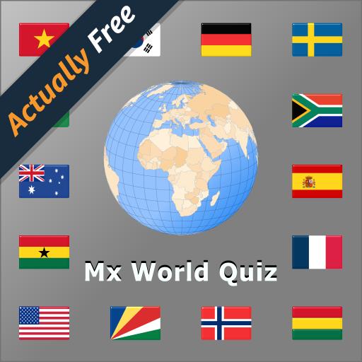 Welt Flaggen und Länder Quiz  mit Landkarten MX - Hauptstadt Flagge