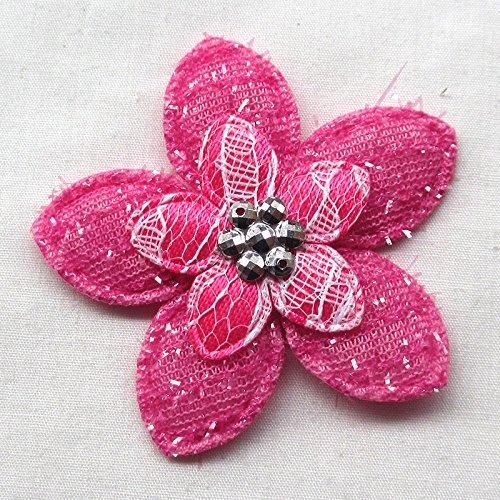 Chenkou Craft imbottita Fiore in feltro ricami lavoretti per matrimoni 40pcs (Imbottito Applique Craft)