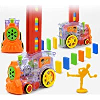 Inayat 60 Pcs Domino Rally Train Toy Set Model with Lights and Sounds Construction and Stacking Toys for Kids