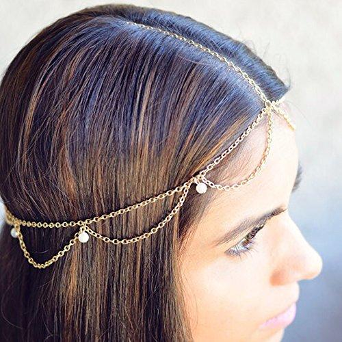 kercisbeauty Boho hecho a mano ajustable Simple perla diadema cabeza cadena  vacaciones playa accesorio de novia c5f80912f685