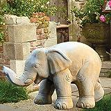 Jardín sueño grandes Figura de elefante piedra-Simba, arena, 24x56x34cm (BxTxH)