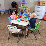 Lifetime 80425 Childrens Square Folding Table - Almond