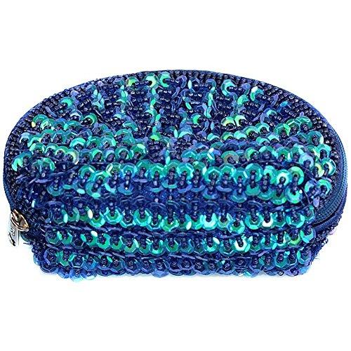 Coin Geldbörse Oyster (dunkelblau) Made mit Glas Pailletten von Joe Cool (Oyster Glas)