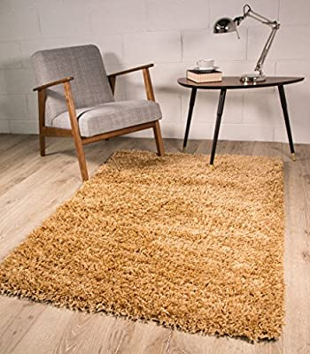 Biscuit Beige Soft Thick Luxury Shaggy Rug 9 Sizes Available - inexpensive UK light store.