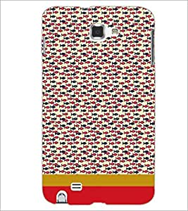 PrintDhaba Fish Pattern D-1869 Back Case Cover for SAMSUNG GALAXY NOTE 1 (Multi-Coloured)