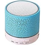 Cehar Mini Haut-Parleur Bluetooth sans Fil, LED Portable avec Haut-Parleur pour Port USB et TF, 5 x 5,4 cm