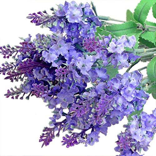 Coloré(TM) Feuille artificielle 2PC artificielle Faux Fleur Bouquet De Bouquet Accueil Décor De Mariage (Violet)