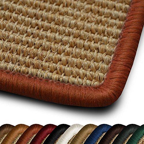 casa pura Sisal Läufer/Teppich myStyle | Kettelung in Wunschfarbe | Naturfaser | viele Größen zur Auswahl (Kettelung Orange, 80x150 cm)