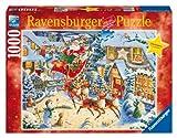 Ravensburger 19023 - Weihnachtliche Schlittenfahrt - 1000 Teile Puzzle