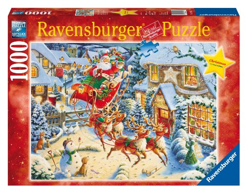 ravensburger 4005556190232 santas flying visit 1000 pieces christmas puzzle rav19023 price in india - Ravensburger Christmas Puzzles
