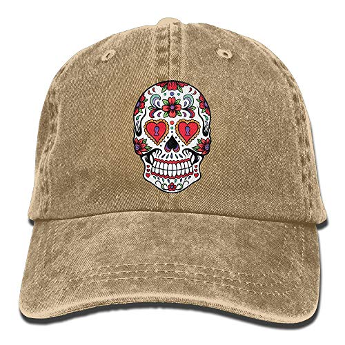 Giant Cutout Sugar Skulls Cotton Adjustable Jeans Cap Baseball Caps for Adult Sugar Bowl-patch