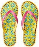 Sparx Women's Yellow and Pink Flip-Flops and House Slippers - 7 UK/India (40.67 EU)(SF2035LYLPK)