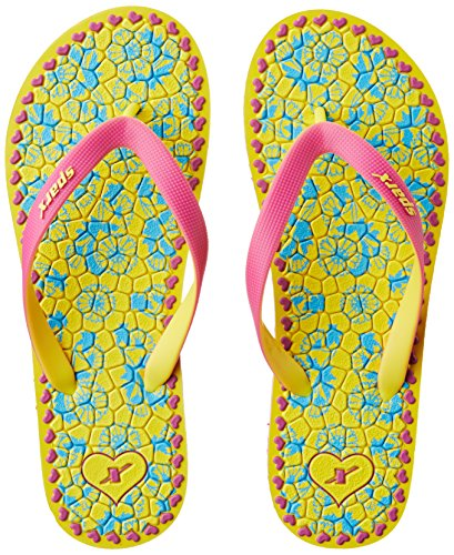 Sparx Women's Yellow and Pink Flip-Flops and House Slippers - 7 UK/India (40.67 EU)(SF2035LYLPK)  available at amazon for Rs.188