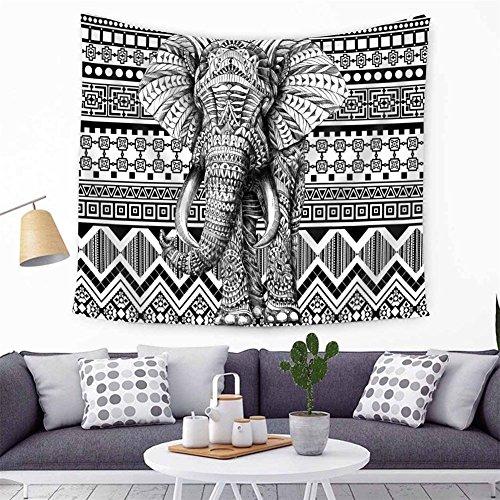 Hippy Mandala bohemio tapices elefante indio pared Haning tapiz indio blanco y negro–tapiz bohemio Decoración tapiz Mandala tapices Pyshedlic Picnic playa colcha Mantel 150x 130cm (hyc21)