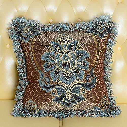 Amerikanische Blau-kissen (Baozengry Im Europäischen Stil, Luxus Gesäumten Kissen Bett Rückenlehne Sofa Kissen Kern Mit Großen, Amerikanischen, 30 X 50 Cm Kissenbezug Kissen Core, Blau)
