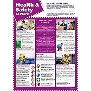 Office Safety Posters - Set of 4 | Health and Safety Posters | Laminated Gloss Paper 850mm x 594mm (A1) | Health and Safety Office and Commercial Wall Charts | Education Charts by Daydream Education