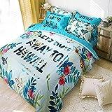 Warmsun 200X230CM 1,5 -1.8M cama doble Momao de dibujos animados súper suaves de algodón Planta de forros de 4 conjuntos de cama serie de moda personalizada