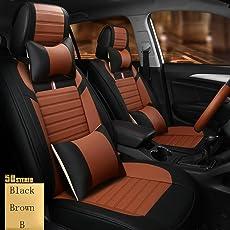 2018 Der neue Four Seasons Leder Autositz Sporty Sommer Microfaser Leder Sitzbezug, Brown