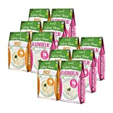 12 x Slendier Bio Konjak Nudeln | Probierpaket Energie | 6 x Glasnudel-Style 250 g + 6 x Rice-Style 250 g | Shirataki Nudeln | Bio-Qualität