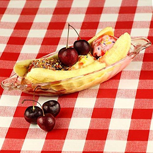 dine@drinkstuff Eis-Schale für Bananensplit, 4Stück, aus Glas, Boot-Form, für die Dessert-Präsentation
