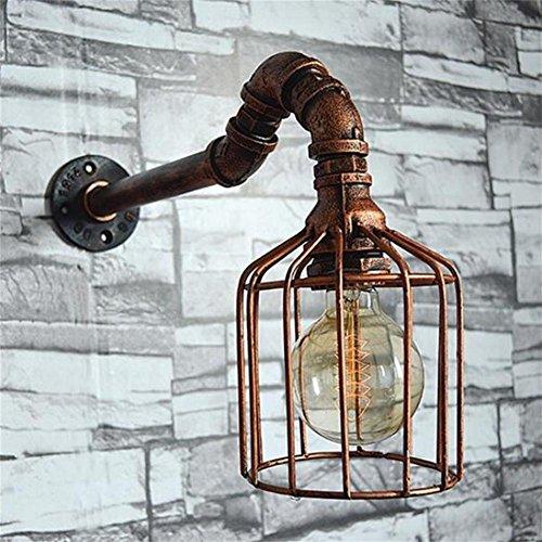 YL-Light Vogelkäfig Retro Eisen Wand Lampe Continental Metall Wasser Rohr Lampen Handgemachte Tube Lights Industrial Wind Schmuck