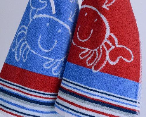 3 Bavoirs Bleu 100% coton épais Haut de Gamme Vandenhove Linge De Maison By VLM