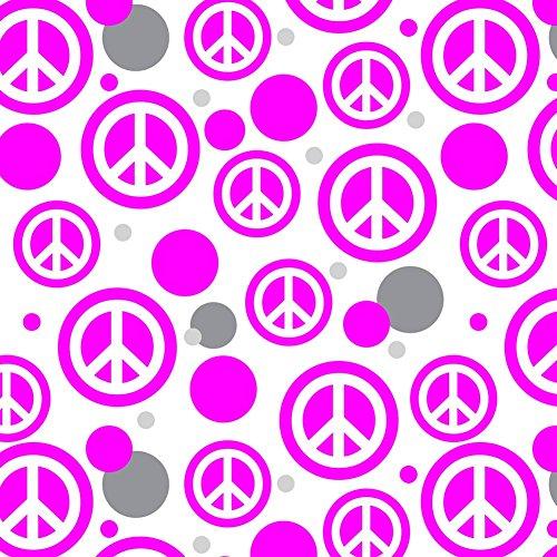 Premium Geschenkpapier, Rolle Muster–Peace Zeichen Symbol rose (Zeichen Rosa Peace Symbol)