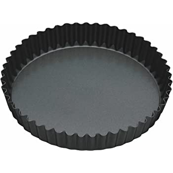 """Kitchen Craft MasterClass Non-Stick Fluted Flan Tin/Quiche Pan with Loose Base, 23 cm (9"""")"""