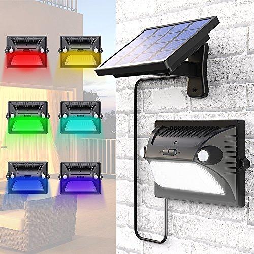 Solarlampe Garten, MATONE Solarleuchten Außen mit Bewegungsmelder 180°Weitwinkel Solar Beleuchtung...