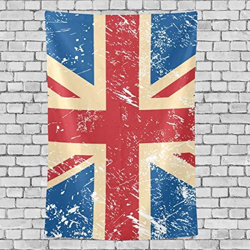 Bennigiry Retro Union Jack UK Flagge Wandteppich Wandbehang Home Wall Art Deko für Wohnzimmer Tisch Überwurf Tagesdecke 152,4 x 101,6 cm, Multi, 60x51(in)
