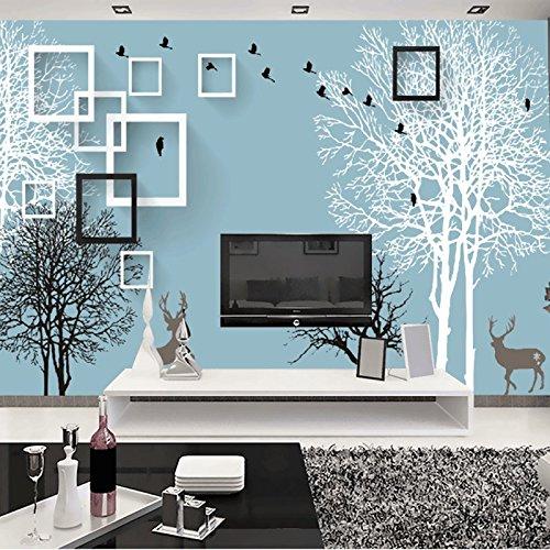 Y-Hui Large mural TV wall wallpaper 3D modern living room bedroom non-woven wallpaper wallpaper deer forest,250cmx175cm