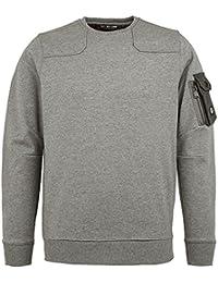 New Duck And Cover Crosby Grey Marl Jumper Sweatshirt Top Pull Over Crew Neck & Designer Smart Casual