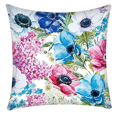 Precioul Kissenbezüge 45x45 cm ohne Füllung-Zierkissenhülle, Sofakissenbezug Kissenhülle Sonnenblume, Rose, Kaktus