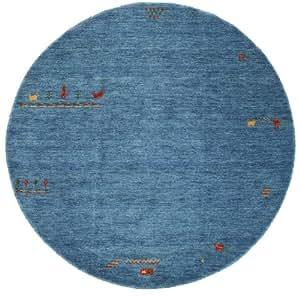 gabbeh indisch hellblau teppich 200 moderner rund teppich k che haushalt. Black Bedroom Furniture Sets. Home Design Ideas