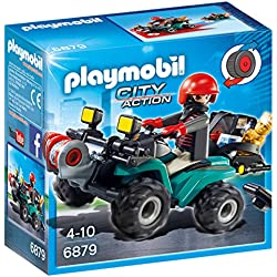Playmobil Policía- Robber's Quad with Loot Playset, (6879)