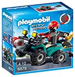 Playmobil 6879 City Action Robber\'s Quad with Loot with Pullback Motor