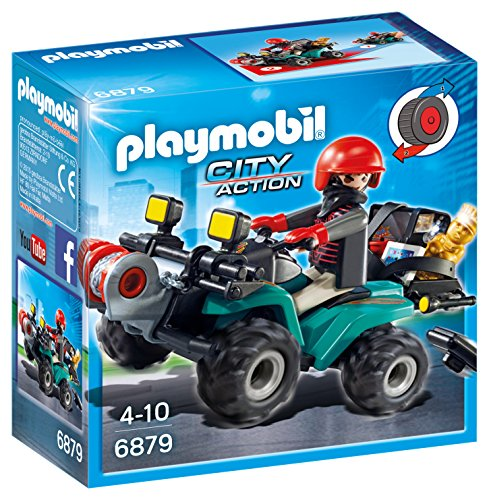 Playmobil Policía- Robber's Quad with Loot Playset