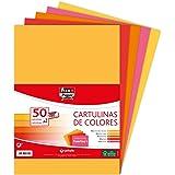 Fixo Paper 00001494 – Paquete de cartulinas de colores A4 – Surtido de colores fuertes I, 50 unidades, 180g