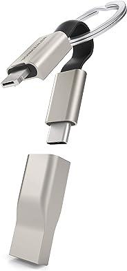 VONMÄHLEN High Five Signature – 5in1 Multi Ladekabel als robuster Schlüsselanhänger aus Aluminium – innovatives USB-C, Micro-