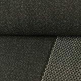Stoffe Werning Wollstoff Doubleface Uni & Grafik schwarz
