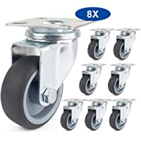 Sourcingmap 5-inch Diameter TPR Wheel Trolley Caster Pulley Roller Gray 4pcs