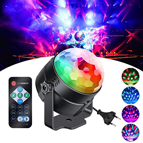 ühne Licht LED Lichteffekte MP3 Musik Player RGB Sprachaktiviertes Kristall Magic Ball ()