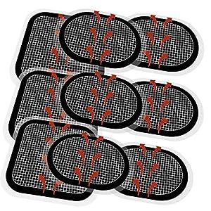 Coomatec 9-Teiliges Gurtelektrode, Kompatibel mit Slendertone Abs Series, Ersatzelektrode für Bauchmuskeln