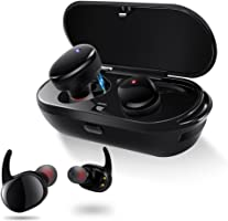 Wireless Earphones,Meilun NB7 Bluetooth 5.0 3D Stereo Sound True Wireless Headphones with Charging Box Built-in Mic and Noise Cancelling Stereo for iPhone and Android.
