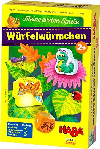 HABA 303639 - Meine ersten Spiele - Würfelwürmchen | Liebevoll gestaltetes Würfelspiel für 1-3 Spieler ab 2 Jahren