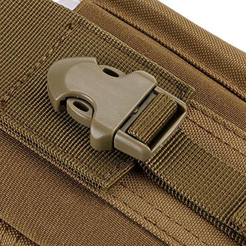 ZZ Sanity Tactical Molle EDC Beutel, Universal Nylon Wasserdichte Utility Gadget Gürtel Hanging Taille Taschen Outdoor Tool Bräunen